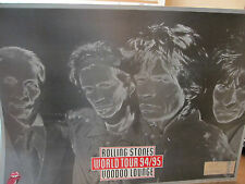 RARE! Rolling Stones -1994-5 Record Store Promo Cardboard Poster +Concert Ticket