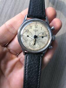 Heuer 2447 1940s Valjoux 72 Pre Carrera
