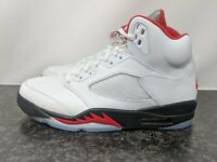 NIKE AIR JORDAN 5 RETRO OG 2020 FIRE RED MENS SIZE 9.5  DA1911-102 NEW