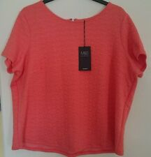 M & S ladies top coral / pink size 20 bnwt stay new technology