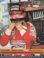 1979 Program FIA F-1 Grand Prix of Canada Montreal Gilles Villeneuve with poster