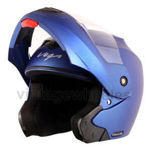 Vega Crux Dx Dull Blue Flip Up Helmet