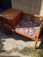 Beautiful Old Oak? *TELEPHONE SEAT* Table Hallway Office Living Room Priory VGC