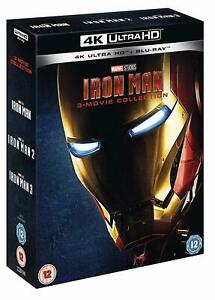 IRON MAN 1-3 Movie Collection [4K Ultra HD + Blu-ray] Marvel Trilogy UHD Set