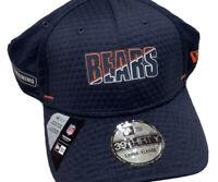 Chicago Bears 2020 Sideline New Era 39thirty Training Cap Hat Navy L/XL NETECH