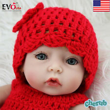 Handmade Real Looking Newborn Baby Vinyl Silicone Realistic Reborn Doll Girl 10""