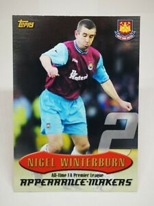 Topps C20 Premier Gold 2003 All Time Premier League #AT2 Nigel Winterburn