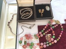 VINTAGE JOBLOT MOTHER OF PEARL STAR BROOCH,NECKLACES,CALA MILLOR..REDUCED
