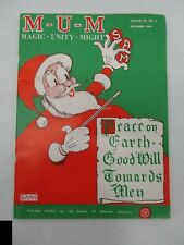 Mum Magazine December 1969 Christmas Issue Ed Mishell Magic Unity Might Magician
