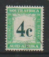 South Africa - 1958, 4d Postage Due - Used - SG D42