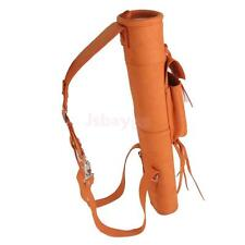 Traditional Suede Leather 3 Point Harness Archery Quiver Back Bow Arrow Bag