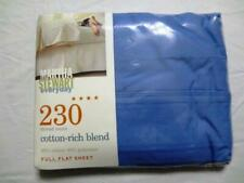 Martha Stewart Everyday 230 Thread Count Full Flat Sheet Blue Nwt Fs