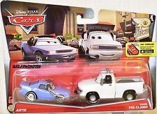 DISNEY PIXAR CARS LA SPEEDWAY ARTIE - BRIAN FEE CLAMP  2 CAR PACK