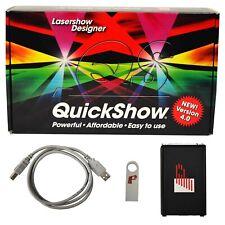 X-Laser Pangolin QuickShow Xl Laser Control Software + Fb3Qs Usb to Ilda dongle