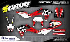 SCRUB Husqvarna  WR 125 250 300 2006-2008 '06 '08 Grafik Dekor-Set