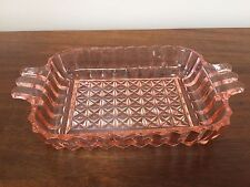 Pink Pressed DEPRESSION Glass Rectangle RELISH CANDY DISH 1930's