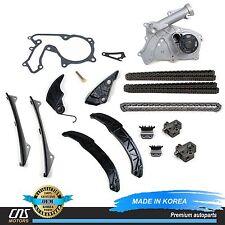GENUINE Complete Timing Chain Kit w/ Water Pump Fits 06-10 Hyundai Kia 3.3L 3.8L