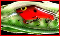 Vintage 1987 POE'S SUPER CEDAR 3.5-inch Red Hot Belly Fishing Lure (#243)