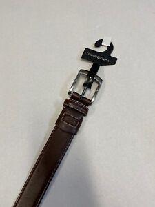 Nike Golf  G-Flex  Brown  Leather Belt  Sz 38