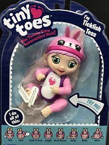 Tiny Toes Ticklish Tess  Interactive Tiny Baby Doll  Talks,  Batteries  Inc