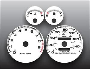 1994-2001 Acura Integra GS-R Dash Instrument Cluster White Face Gauges