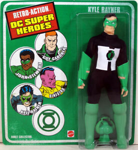 """Damaged Package Retro Action DC Super Heroes 8"""" KYLE RAYNER Figure Green Lantern"""