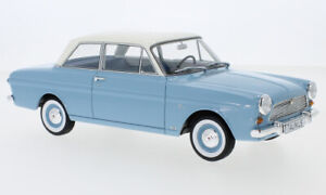 1965 Ford Taunus 12M (P4) Limousine Bue with white roof by BoS Models 1/18 New!