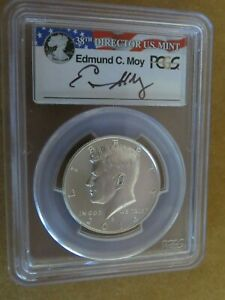 2014 D SILVER Kennedy PCGS MS70 Edmund Moy 50th Anniversary Set First Strike 50c