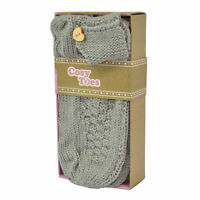 Cosy Toes Grey Ankle Slipper Socks - Knitted In Gift Box Size 4-7 + Free Postage