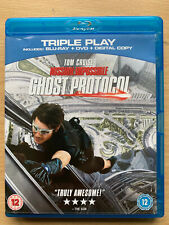 Mission Impossible 4 Blu-ray + DVD Ghost Protocol Spy Thriller Movie 2 Discs