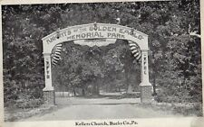 Knights of the Golden Eagle Memorial Park in Kellers Church Bucks County PA OLD