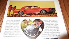 ★★1967 MUSTANG COUPE-FASTBACK-CONVERTIBLE ORIGINAL AD-67 FORD PHOTO 390 ★★