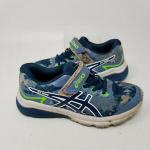 Asics GT 1000 Blue Mesh Athletic Running Tennis Shoes Sneaker Boy Size 1