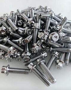 120 x Stainless steel split Rim Bolts M7 x 24mm BBS RM OZ Wheels Raw