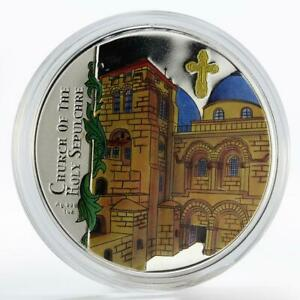 Malawi 20 kwacha Church of the Holy Sepulchre colored silver coin 2010