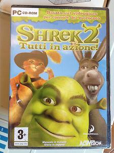 Shrek 2 tutti in azione pc cd rom gioco game nuovo sigillato ita