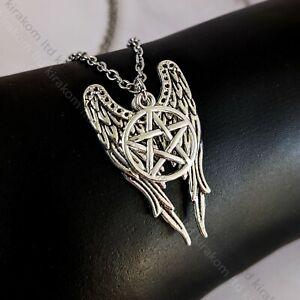 Devil Angel Wings Pentagram Wicca Necklace Pendant Jewellery Fashion