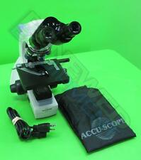 Accu-Scope 3002 Lab Bio Microscope with 4x, 10x, 40x, 100x Objectives
