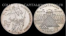 100 Francs Bicentenaire du Musée du Louvre 1993. Argent