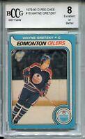 1979 OPC Hockey #18 Wayne Gretzky Rookie Card Beckett Graded BCCG 8 O-Pee-Chee