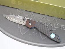 Benchmade 812-101 Mini AFCK Gold Class Damascus Carbon Fiber Axis Limited #046