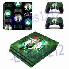 PS4 Pro Console Skin Decal NBA Boston Celtics Vinyl Stickers Decals Covers Wrap