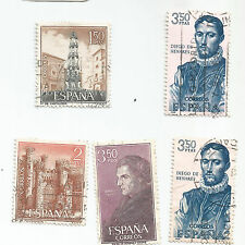 SPAIN; LOT OF 5 used.s*