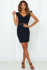 BNWT Navy Blue Cut Out Catch Your Eye Bodycon Cocktail Dress size 6 8 10 or 12