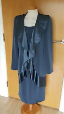 ladies INSPIRATO Mother of Bride suit dress jacket size 12 blue grey