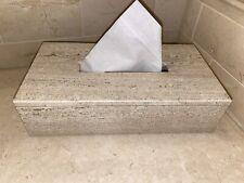 Tissue Box Dispenser Cover Holder Bathroom Travertine Natural Stone