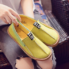Fashion Women Comfy Flat Moccasin-Gommino Loafer Shoes Round Toe Diving Leisure