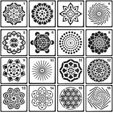 16 pcs/set DIY Second Generation Art Mandala Stencil Painting Tool Template Kits