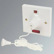 50A Pull Cord Neon Switch Isolator Bathroom Ceiling Shower Switch
