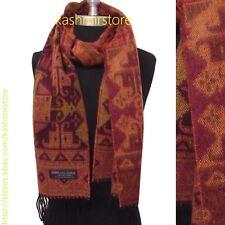 New 100% Cashmere Scarf Classic Plaid Scotland Soft Warm Wool Yellow/Wine/pink